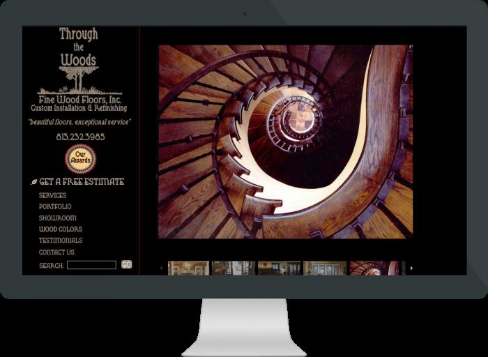 Wood Flooring Company Web Site Design