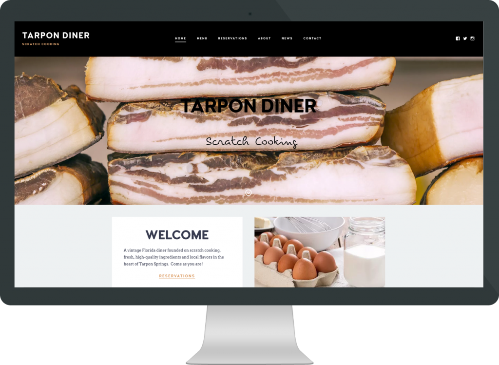 Tarpon Diner website